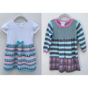 Bonnie Jean & Gymboree cotton knit dresses 3T pink